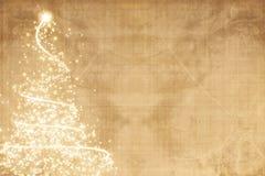 Árbol de navidad del vintage Fotografía de archivo