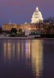 Árbol de navidad delante del Washington DC del capitolio Fotos de archivo libres de regalías