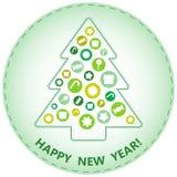 Árbol de navidad, diseño del extracto Imagenes de archivo