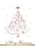 Árbol de navidad elegante con los enrollamientos Fotografía de archivo