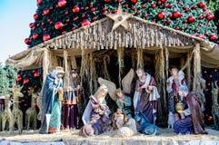 Árbol de navidad en Belén, Palestina Imagen de archivo