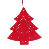 Árbol de navidad en blanco Fotografía de archivo libre de regalías