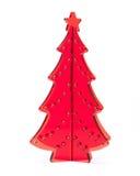 Árbol de navidad en blanco Imagenes de archivo