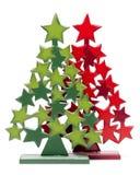 Árbol de navidad en blanco Foto de archivo libre de regalías