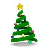Árbol de navidad en blanco Foto de archivo