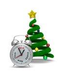 Árbol de navidad en blanco Imagen de archivo
