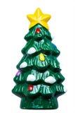 Árbol de navidad en blanco Imagen de archivo libre de regalías