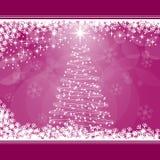 Árbol de navidad en color de rosa Imagen de archivo libre de regalías