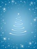 Árbol de navidad en el azul 3 Fotografía de archivo
