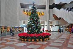 Árbol de navidad en el centro cultural de Hong-Kong Foto de archivo
