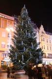 Árbol de navidad en el cuadrado de Jelacic Imagen de archivo libre de regalías