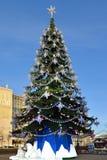 Árbol de navidad en el cuadrado de Pushkin Fotos de archivo