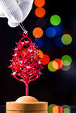 Árbol de navidad en el joyero Imagen de archivo libre de regalías
