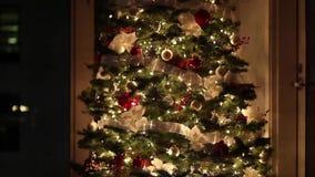 Árbol de navidad en el país metrajes
