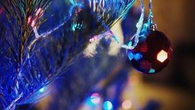 Árbol de navidad en el país almacen de metraje de vídeo