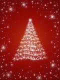 Árbol de navidad en el rojo 3 Fotografía de archivo