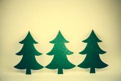 Árbol de navidad en estilo del vintage Imagenes de archivo