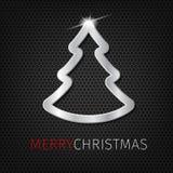 Árbol de navidad en fondo del vector Foto de archivo