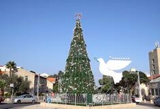 Árbol de navidad en Haifa Imagen de archivo