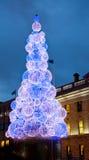 Árbol de navidad en la ciudad de Dublín - Irlanda Imagen de archivo libre de regalías