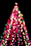 Árbol de navidad en la falta de definición Imagen de archivo libre de regalías