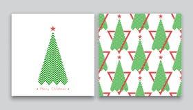 Árbol de navidad en la línea arte 03 Fotografía de archivo