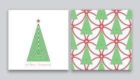 Árbol de navidad en la línea arte 04 Fotos de archivo libres de regalías