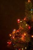 Árbol de navidad en la noche Imágenes de archivo libres de regalías