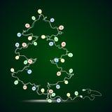 Árbol de navidad en las cintas Fotografía de archivo