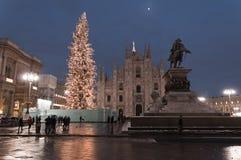 Árbol de navidad en Milano Foto de archivo