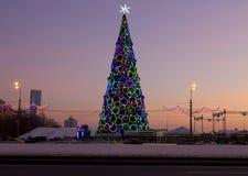 Árbol de navidad en Moscú Imagenes de archivo