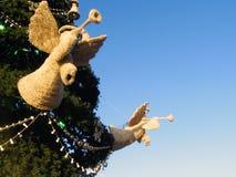 Árbol de navidad en Moscú Fotos de archivo