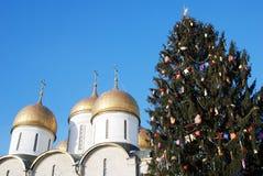 Árbol de navidad en Moscú el Kremlin Foto de archivo