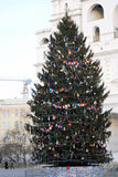 Árbol de navidad en Moscú el Kremlin Fotografía de archivo