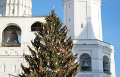 Árbol de navidad en Moscú el Kremlin Imagenes de archivo