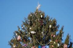 Árbol de navidad en Moscú el Kremlin Imagen de archivo libre de regalías
