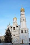 Árbol de navidad en Moscú el Kremlin Fotos de archivo libres de regalías