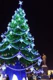 Árbol de navidad en Moscú, Rusia Fotografía de archivo