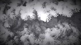 Árbol de navidad en nieve almacen de metraje de vídeo
