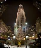 Árbol de navidad en NY, 2008 Imagenes de archivo