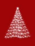 Árbol de navidad en rojo Fotos de archivo