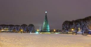 Árbol de navidad en St Petersburg Imagen de archivo