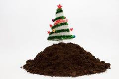 Árbol de navidad en un suelo Foto de archivo