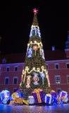Árbol de navidad en Varsovia Fotos de archivo libres de regalías