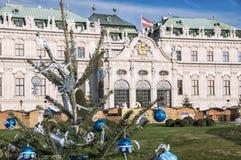 Árbol de navidad en Viena Fotos de archivo