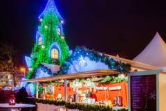 Árbol de navidad en Vilna Lituania 2015 Foto de archivo libre de regalías