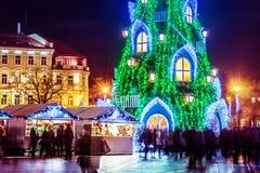Árbol de navidad en Vilna Lituania 2015 Foto de archivo
