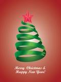 Árbol de navidad estilizado Imágenes de archivo libres de regalías