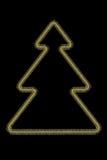 Árbol de navidad estilizado de oro Fotografía de archivo libre de regalías