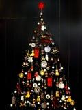 Árbol de navidad estilizado del diseño del vintage Imagen de archivo